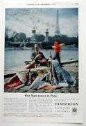 Sanderson Wallpapers And Fabrics Vintage 1960 French Related Colour Advert
