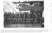 Lord Walter Kerr And Officers On Board Battleship Hms Majestic 1896 Naval Print