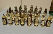 Russian Porcelain Chess Pieces. Very Rare. Absent In Porcelain Chess Index