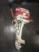 Vintage Mercury Boat Engine Red White Compression For Parts