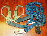 Falltech 4 Ft. To 6 Ft.l Blue Shock Absorbing Lanyard Used Condition