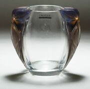 Lalique Crystal Clematites Vase Brand New In Lalique Gift Box L@@k