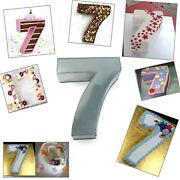 Large Number Seven Birthday Wedding Anniversary Cake Tins / Pans / Mould