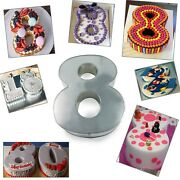 Large Number Eight Birthday Wedding Anniversary Cake Tins / Pans / Mould