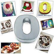 Small Number Zero Birthday Wedding Anniversary Cake Tins / Pans / Mould
