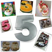 Small Number Five Birthday Wedding Anniversary Cake Tins / Pans / Mould