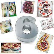 Small Number Six Birthday Wedding Anniversary Cake Tins / Pans / Mould