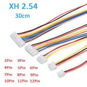 Xh 2.54 Mm 30cm Connector Plug Cable Wire Tinned At One End 2/3/4/5/6/12 Pin