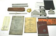 Vintage Union Metal Workers Pratt And Whitney Rome Ny Iron Mills Steel Measures+++