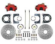 Rear Disc Brake Conversion Kit For Ford 8in And 9in Small Bearing Axle Red Caliper
