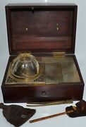 Rare Antique Chinese Hardwood Smoking Box With Accessories