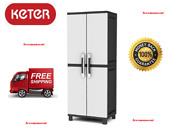 Keter Freestanding Utility Storage Cabinet 25 W X 72 H X 17 D Inches Plastic