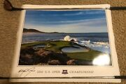 2010 Us Open Pebble Beach Poster Autograph 24x36 Masters Pga Ryder Cup British
