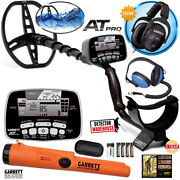 Garrett At Pro Metal Detector With Ms-2 And Water Headphones And Pro-pointer At
