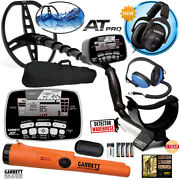 Garrett At Pro Metal Detector With Ms-2 And Water Headphones Pro-pointer At Bag