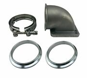 3 Vband 76mm Elbow Adapter Flange Mounts Exhaust Manifold To T3 T4 Turbocharger