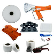Single Large Boat Shrink Wrap Kit - Heat Gun Tools And Accessories - Includes Rip
