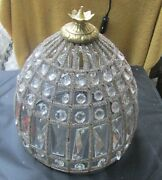 Xmas Sale Antique Dome Shaped Crystal Shade Or Fixture Cover, 120 Crystals .