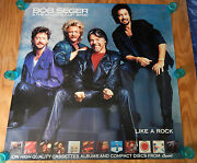 Bob Seger And The Silver Bullet Band - Like A Rock - Original Rock Poster 1986