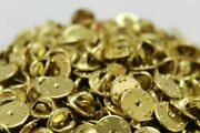 Brass Pinback Pin Post Clutch Backs Butterfly Clasp Tie Tack Back Lot Of 5000