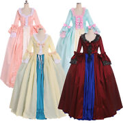 18th Century Marie Antoinette Victorian Rococo Gown Ball Dress Cosplay Costume