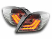 All Smoked Led Lightbar Tail Lights For Opel Astra H 3 Door Gtc Model Nice Gift