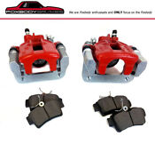 Brand New Pair Red Calipers For 1994-2004 Mustang Gt Rear W/ceramic Pads