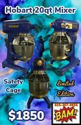 Hobart 20 Qt Dough Bakery Mixer With Whip Attachment- 120v- Safety Cage- Timer
