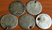 Lot Of 5 Austria Silver Coins 15 Kreuzer Different Years And Kings Very Rare