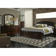 Liberty Furniture Avalon 4 Piece King Faux Leather Storage Bedroom Set