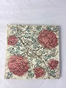 Doulton And Co Art Pottery Tile Victorian Arts And Crafts Movement Antique Floral