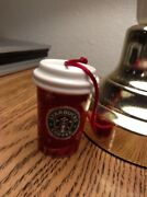 Starbucks 2008 Christmas Ceramic Ornament Red To Go Cup Deer