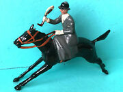 Britains Fox Hunting Lady Riding Side Saddle Galloping Horse Lead Toy