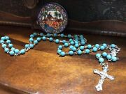 Jerusalem Bless Rosary Church Holy Sepulchre 2016 Lucite Turquoised Stone Look