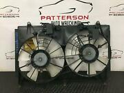 2012 Mazda Cx7 Electric Cooling Radiator And A/c Condensor Fan Motor Assembly 2.5