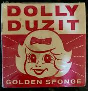 Vintage Dolly Duzit Golden Metal Dish Cloth - 1950and039s Sealed Packaging