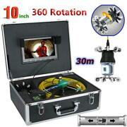 10monitor Pipe Drain Sewer Industrial Endoscope 38leds 800tvl Inspection Camera