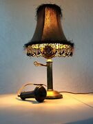 Antique Brass Candle Stick Phone Lamp