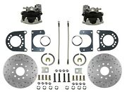 Rear Disc Brake Conversion Kit Ford 9in Large Bearing New Style Axle - X-drill