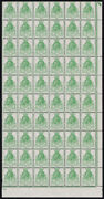 Sg434wi 1929 Puc 1/2d. Green Wmk Inverted. Rare 1/4 Sheet U/m Showing Plate ...
