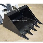New 44 Mini Low Profile Tooth Bucket Bobcat 463 S70 S-70 Skid-steer Loader
