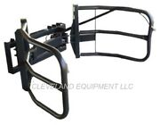 New Bale Grabber Grapple / Hay Squeeze Attachment Kubota Cat Skid Steer Loader