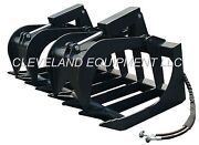 New 72 Root Grapple Attachment Skid Steer Loader Bucket Rake Tine Rod Bobcat 6and039