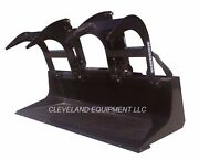 New 60 Ld Grapple Bucket Attachment Skid-steer Loader Tractor Claw Bobcat 5'