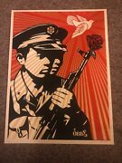 Obey Shepard Fairey 2006 Chinese Soldier 18 X 24 Nmt/mint 198/300.