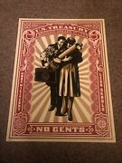 Shepard Fairey Obey Giant Proud Parents Signed Numbered Screen Print Rare 2007