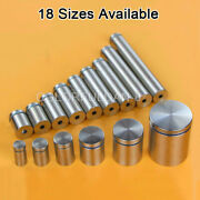 500pcs Stainless Steel Hollow Advertising Nails Screws Bolt Glass Standoff Pins