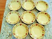 Vintage 1950 Taylor Smith Ironware Indian Summer Small Dessert Bowl 5 1/2 8pcs