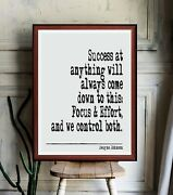 Dwayne Johnson Quote Literary Quote Art Print Gift Poster