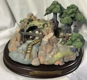 Wdcc Enchanted Places Snow White Seven Dwarves' Jewel Mine W/ Box And Coa